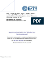 University of Bath_Experimental Study of Moral Compromise