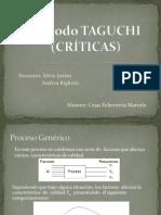 Método TAGUCHI (Criticas)