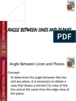 Angle Between Lines and Planes