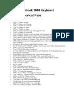 ZOutlook 2010 Keyboard Shortcut Keys