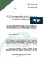 NP_18abril_CSI·F-A_ENSEÑANZA