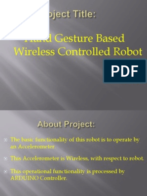Hand Gesture Based Wireless Controlled Robot