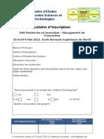 Bulletin d'Inscription DRIM