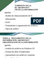 Archivos y Organización de la información