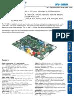 Sv1600 Brochure