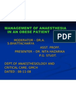 Anaesthesia in Surgery in Obese Patients - Copy