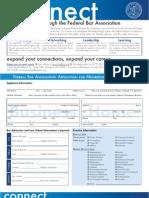 Federal Bar Association Membership Application