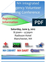 2012 NH Integrated Emergency Volunteer Training Conference Registration Information