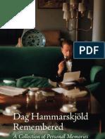 Dag Hammarskjöld Remembered