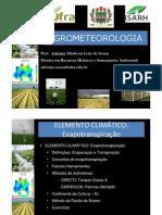 Agrometeorologia 2011- Aula 7 - evapotranspiração