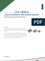 LEA 6 NEO 6 MAX 6 Hardware Integration Manual (GPS.G6 HW 09007)