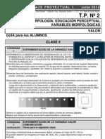 LP1 TP 2 Variables Valor 2012