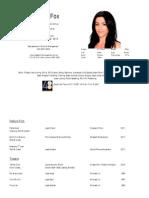 Amanda Fox CV 2012