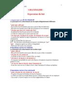 Grammaire Et Exercices Exprimer Le But