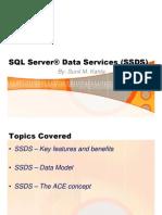 SQL Server Data Services - SSDS