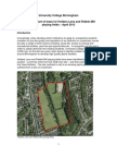 UCB proposal for Holders Lane/Pebble Mill playing fields - background