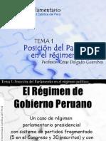 CDG - Posición del parlamento en el régimen de gobierno (Perú)