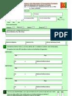 Formula Ire de Candidature Aux Bourses d'Etudes Suisses ()