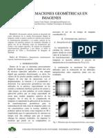 Artículo - Transformaciones Geométricas en Imagenes