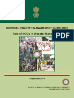 NDMA Guidelines on the role of NGOs in Disaster Management - Naresh Kadyan