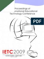 2151910 Ietc09 Proceedings