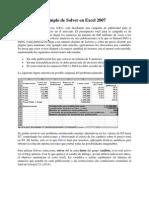 Ejemplo de Solver en Excel 2007