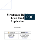 Streetscape Relief Loan Fund Application