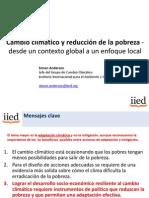 Cambio climático y reducción de la pobreza