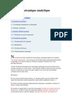 Cours de mécanique analytique chapitre 2