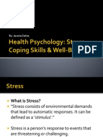 Health Psychology Stress, Coping Skills & Well-being