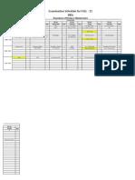 Final Exam Schedule FALL-11 DBA