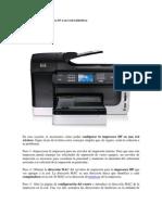 Cómo agregar una impresora HP a una red inalámbrica