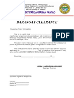 Barangay certificate barangay clearance yadclub Images