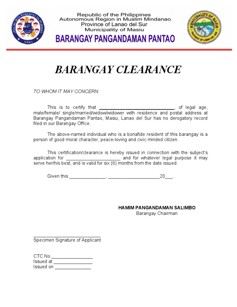 barangay clearance Barangay clearance other requirements as advised by the implementing business area valid tin and bir certificate of registration (for commercial and industrial accounts.