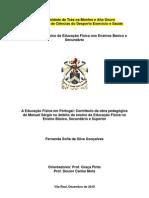 EDF em PT contribuito da obra pedagógica de manuel sergio