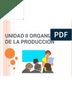 Organizacion de-produccion Unidad II L