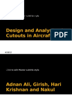 Design and Analysis of Cutouts in Aircraft