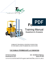 Forklift Training Manual