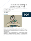 Formal Education Failing to Secure Jobs for Arab Youth