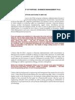 SOP Business Management.ph.D