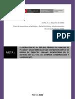 Estudio de Analisis de Peligro y Vulnerabilidad de Un Sector Critico