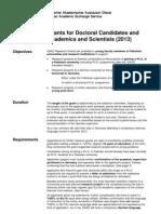 Daad Research Grants 2013[1]