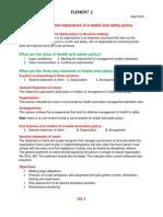 Nebosh IGC Element  2. Policy (Notes)