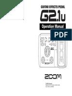 Manual Zoom g2 1u