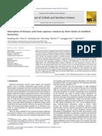 Adsorption Ob Benzoic Acid