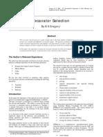Excavator Selection