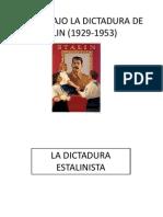 La Urss Bajo La Dictadura de Stalin (