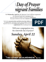Day of Prayer for Immi Families English