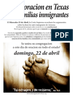 Day of Prayer for Immi Families Spanish