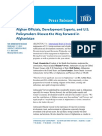 02-16 Afghan Officials, Development Experts, and U.S. Policymakers Discuss the Way Forward in Afghanistan